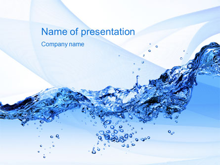 Crystal water presentation template for powerpoint and keynote ppt crystal water presentation template master slide toneelgroepblik Image collections