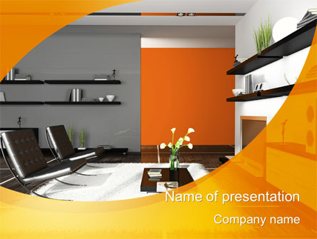Home interior design presentation template for powerpoint for Interior design layout templates