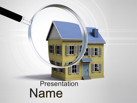 Property Search Presentation Template, Master Slide