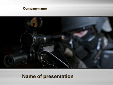 Commando Presentation Template, Master Slide