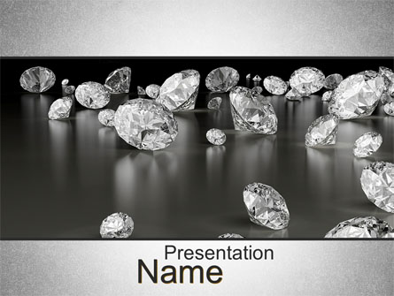 Sprinkle of diamonds presentation template for powerpoint and.