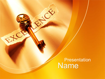 Key to excellence presentation template for powerpoint and keynote key to excellence presentation template master slide toneelgroepblik Image collections