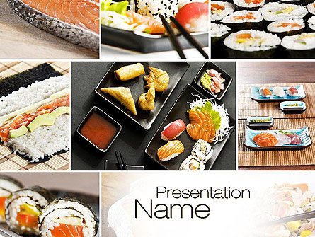 sushi collage presentation template for powerpoint and keynote ppt