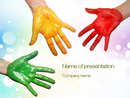 Painted Hands Presentation Template, Master Slide