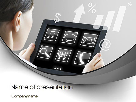 Tablet PC Presentation Template for PowerPoint and Keynote