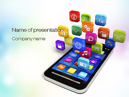 mobile apps presentation template for powerpoint and keynote | ppt, Presentation templates