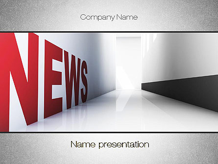 News Corridor Presentation Template For Powerpoint And Keynote