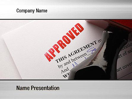 Approved Presentation Template, Master Slide