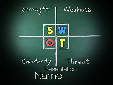 swot analysis presentation template for powerpoint and keynote, Modern powerpoint