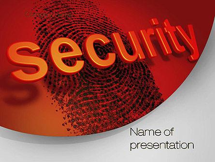 Fingerprint Security Presentation Template, Master Slide
