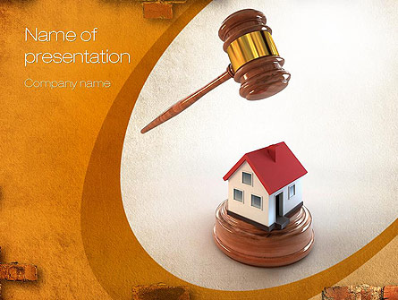 Property Law Presentation Template, Master Slide