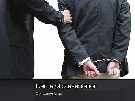 Defendant Presentation Template, Master Slide
