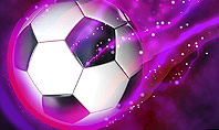 Soccer Ball on Purple Presentation Template