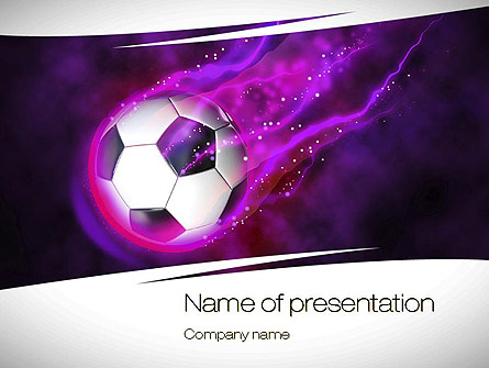 Soccer ball on purple presentation template for powerpoint and soccer ball on purple presentation template master slide toneelgroepblik Gallery