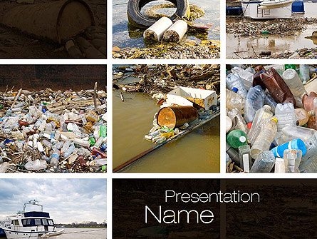 Pollution of water presentation template for powerpoint and keynote pollution of water presentation template master slide toneelgroepblik Image collections