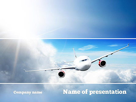 Sky Plane Presentation Template For Powerpoint And Keynote