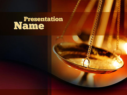 Scales of Justice Presentation Template, Master Slide