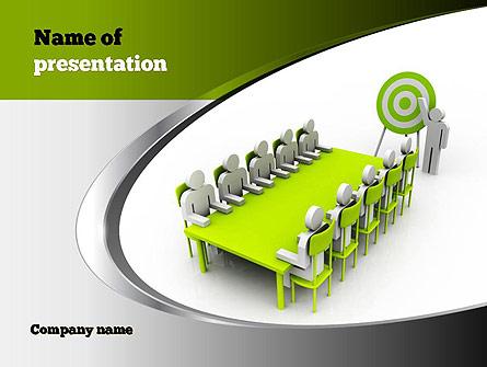 Businessman Meeting Presentation Template Master Slide