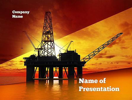 Oil rig presentation template for powerpoint and keynote ppt star oil rig presentation template master slide toneelgroepblik Gallery