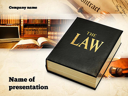Jurisprudence Presentation Template, Master Slide