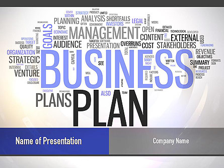 Business Plan Word Cloud Presentation Template, Master Slide