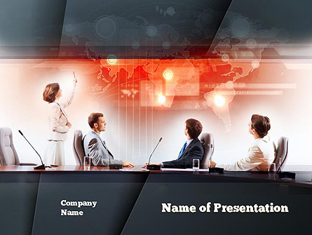 Businesswoman Reporting Presentation Template, Master Slide