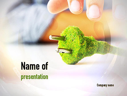 Green Plug Presentation Template, Master Slide