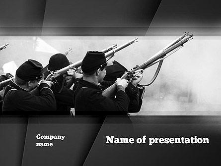 Civil War of America Presentation Template, Master Slide