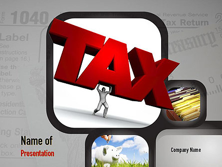 Taxes Presentation Template, Master Slide
