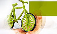 Green Bicycle Presentation Template