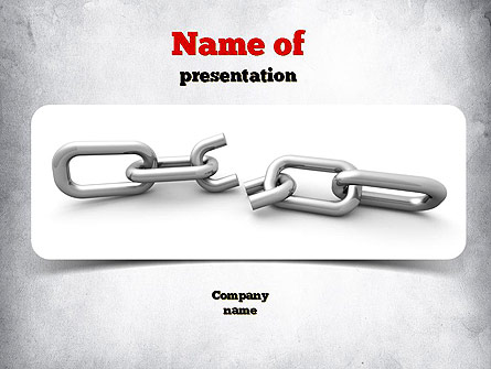 Broken Link Presentation Template, Master Slide