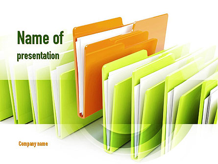 Files Presentation Template, Master Slide