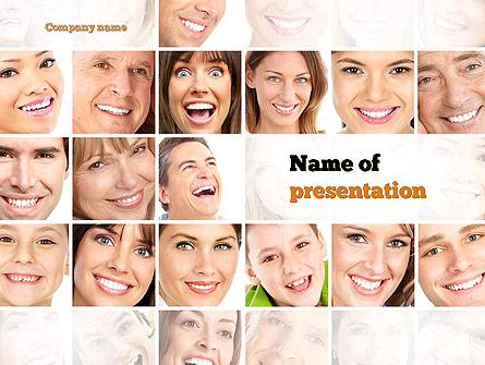 Smiling People Presentation Template, Master Slide