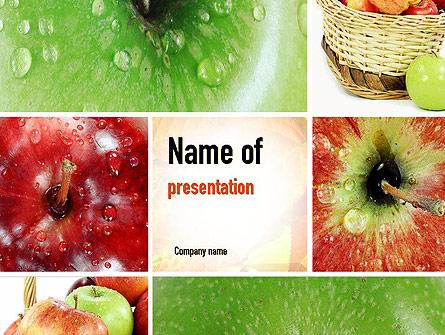 Apple Collage Presentation Template, Master Slide