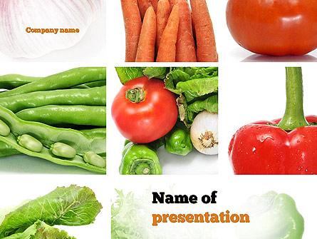 Different Vegetables Collage Presentation Template, Master Slide