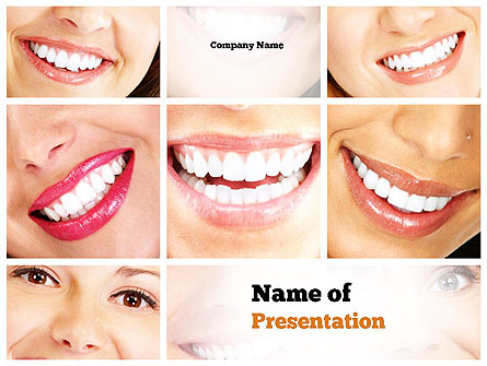 Dental Smile Presentation Template, Master Slide