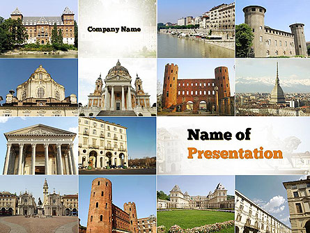 Turin Landmarks Collage Presentation Template, Master Slide