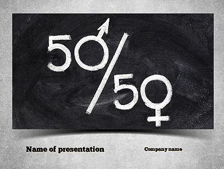 Gender Equality Presentation Template, Master Slide