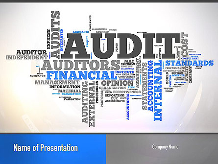 Audit word cloud presentation template for powerpoint and keynote audit word cloud presentation template master slide maxwellsz