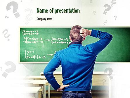 Solving Equation Presentation Template, Master Slide