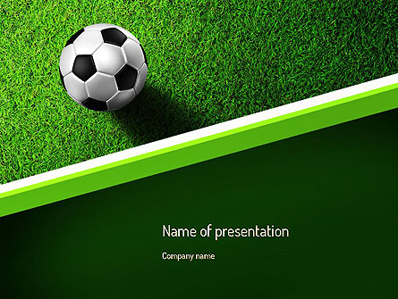 soccer ball near line presentation template for powerpoint and, Powerpoint templates