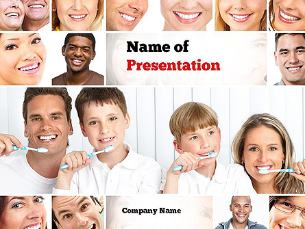 Preventative Dentistry Presentation Template, Master Slide