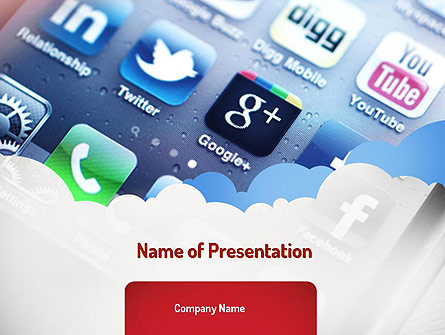Social Media Applications Presentation Template, Master Slide