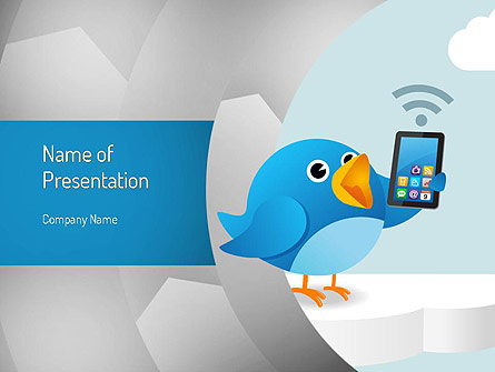 Tweeting Presentation Template, Master Slide