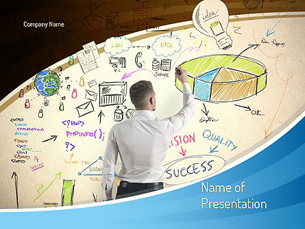 Startup Business Plan Presentation Template, Master Slide