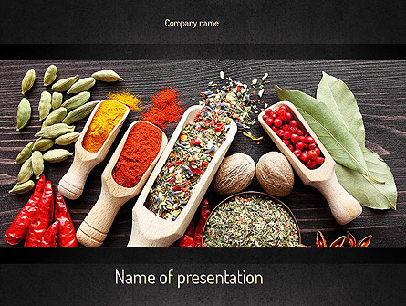 Set of Spices Presentation Template, Master Slide