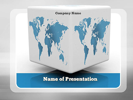 Cube world map presentation template for powerpoint and keynote cube world map presentation template master slide gumiabroncs Image collections