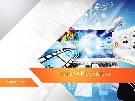 media presentation template for powerpoint and keynote ppt star