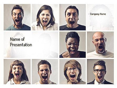 Screaming People Presentation Template, Master Slide