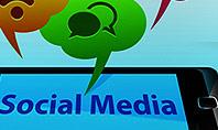 Social Media on Smartphone Presentation Template